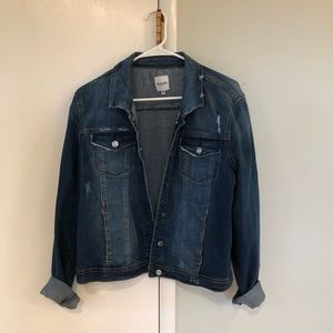 New Kensie Distressed Denim Jacket Size XL